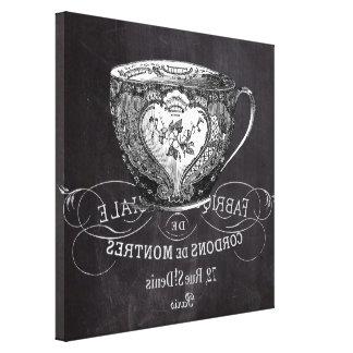 Chalkboard Alice in Wonderland tea party teacup Canvas Print