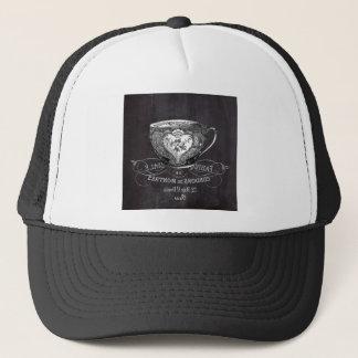 Chalkboard Alice in Wonderland tea party teacup Trucker Hat