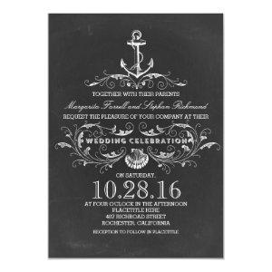 chalkboard anchor beach wedding invitations 5