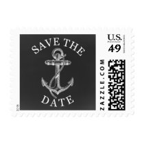 chalkboard anchor nautical save the date stamps