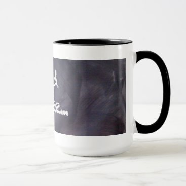 Coffee Themed Chalkboard and Chalk: Need Coffee Mug
