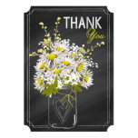 Chalkboard and Daisies Thank You Card