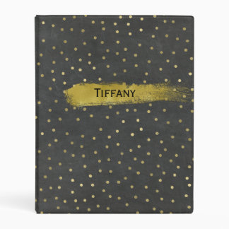Chalkboard and Gold Dots Custom Planner Binder