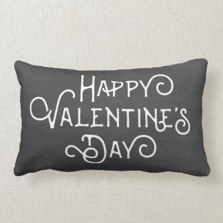 Chalkboard and Polkas Happy Valentine's Day Pillow