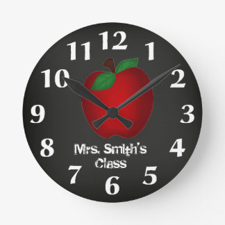 Chalkboard Apple Wall Clock