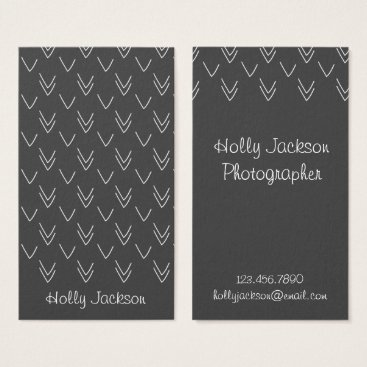 Professional Business Chalkboard Arrows Business Card