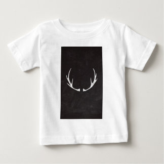 Chalkboard Art - Antlers for the Holidays Baby T-Shirt