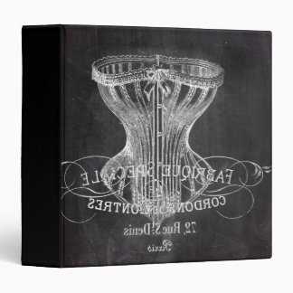 chalkboard art french scripts vintage corset binder