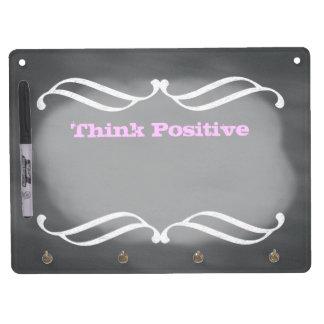Chalkboard Art Style Think Positive Dry EraseBoard Dry Erase Boards