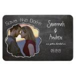 Chalkboard Art Wedding Save the Date Rectangular Magnet