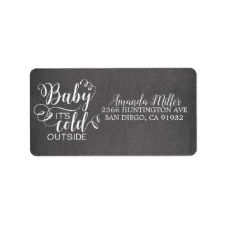 Chalkboard Baby It's Cold Outside Address Label