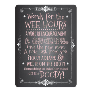 Chalkboard Baby Shower Activity Card Invitation