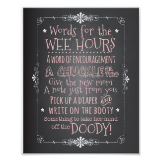 Chalkboard Baby Shower Activity Sign