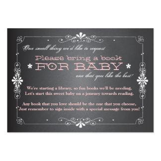 Chalkboard Baby Shower Book Insert Request Card