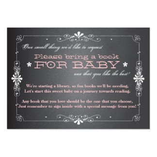 Chalkboard Baby Shower Book Insert Request Card Large Business Card