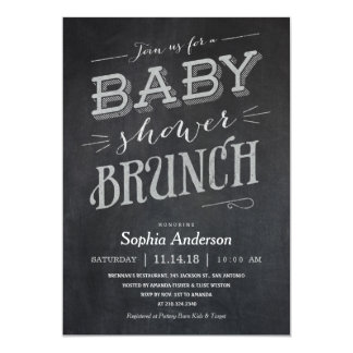 chalkboard baby shower brunch invitations