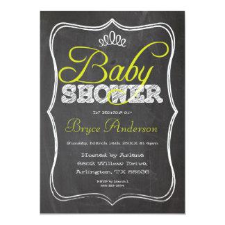 Chalkboard Baby Shower Invitation