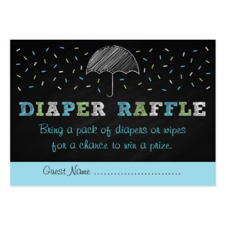 Chalkboard Baby Sprinkle Diaper Raffle Tickets Large Business Cards (Pack Of 100)