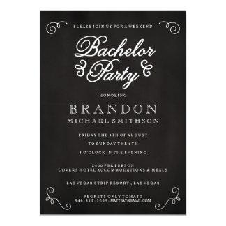 Chalkboard Bachelor Party Invitation