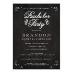 Chalkboard Bachelor Party Invitation Invitations