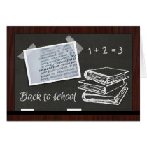 Chalkboard Back to School Good Luck Card