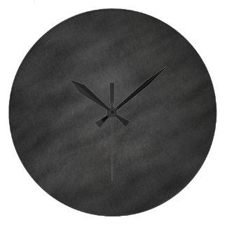 Chalkboard Background Gray Black Chalk Board Blank Large Clock