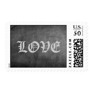 Chalkboard Background Love Postage Stamps