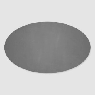 Chalkboard Background Template Oval Sticker