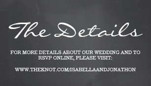 Chalkboard Background Wedding Website Enclosure