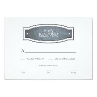 "Chalkboard Badge Response Card 3.5"" X 5"" Invitation Card"