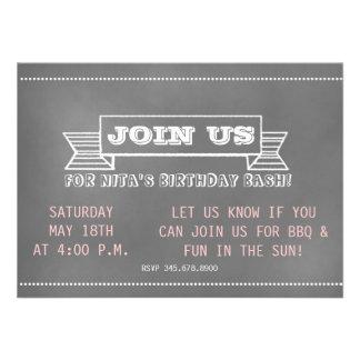 Chalkboard Banner Invitation