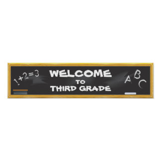 Chalkboard Banner Poster