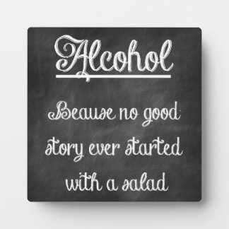 Chalkboard Bar Sign With Funny Quote Plaque