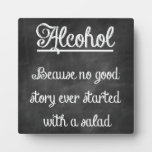 Chalkboard Bar Sign With Funny Quote Plaques