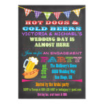 Chalkboard Barbecue Engagement Party Invitations