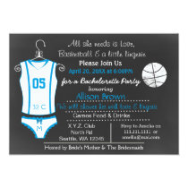 Chalkboard Basketball Lingerie Shower Invitations