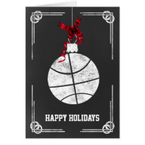 chalkboard basketball player Christmas Cards