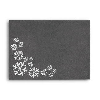 Chalkboard Be Merry Snowflakes Holiday Envelope
