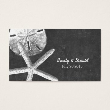 Beach Themed Chalkboard Beach Theme Wedding Website Insert Card