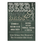Chalkboard Beer Diapers and Dads Baby Shower 5x7 Paper Invitation Card