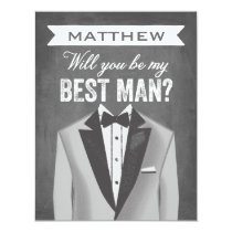 Chalkboard Best Man | Groomsman Invitation
