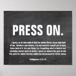 Chalkboard Bible Verse Poster Philippians