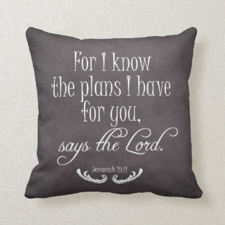 Chalkboard Bible Verse Quote Throw Pillow