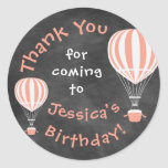 Chalkboard Birthday Sticker with Hot Air Balloons