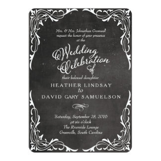 Chalkboard Black and White Calligraphy Card