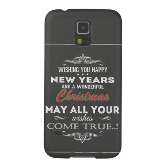 Chalkboard Black Vintage Retro Font New Years Galaxy S5 Cover