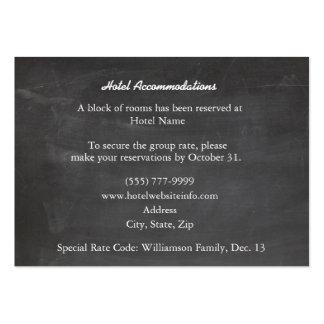 Chalkboard Black Wood Hotel Enclosure Cards Large Business Card
