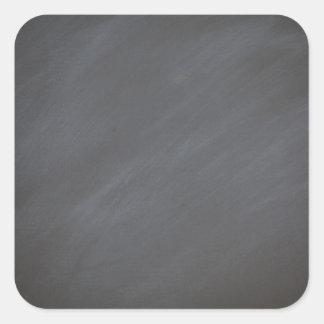 Chalkboard Blackboard Background Gray Retro Style Square Sticker