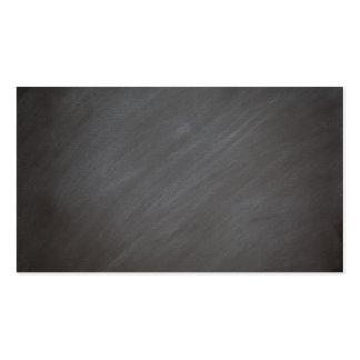 Chalkboard Blackboard Background Retro Style Black Business Card
