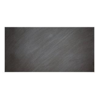 Chalkboard Blackboard Background Retro Style Black Photo Card